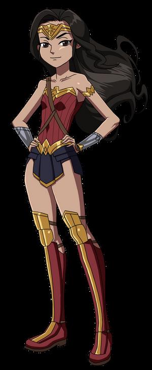Kid Wonder Woman loves Justice