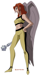 JLU: Hawkgirl by Glee-chan