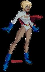 JLU: Power Girl (again) by Glee-chan