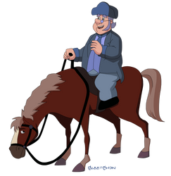 Old Man and Horsey by Glee-chan