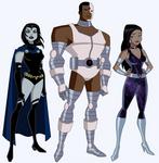 DCAU Titans - Alternate Outfits