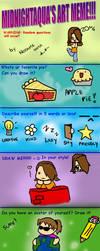 MidnightAqua's art meme by me by Nodame-sama