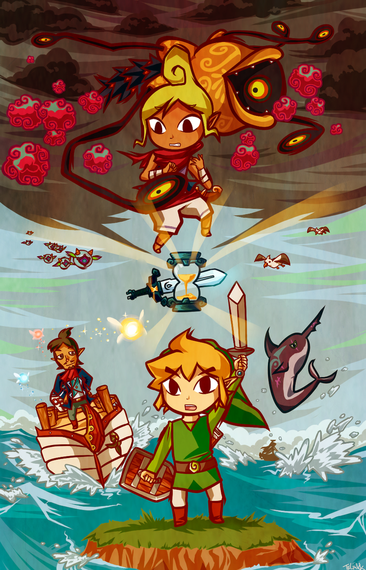 Legend of Zelda: Phantom Hourglass by tellie-tale