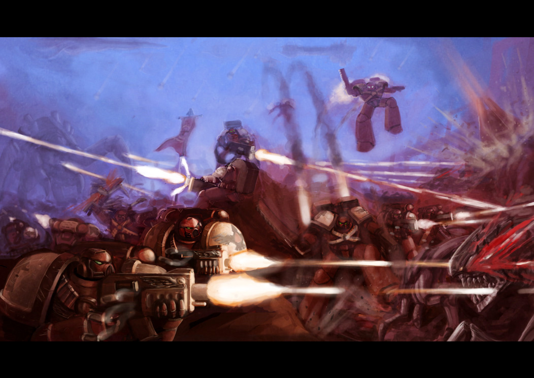[W40K] Collections d'images diverses - Volume 2 THE_EMPEROR_IS_WITH_US_by_Lutherniel