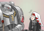 Grey Knight on a date with Sister Hospitaller