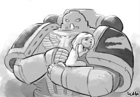 Salamander consoling an upset child