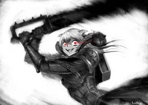 Commission - FFXIV Au Ra Sister of Battle