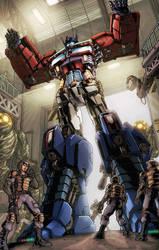 Optimus Surrenders by LiamShalloo