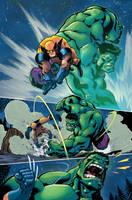 Smash Slash Bash Hulk Vs Wolverine by LiamShalloo