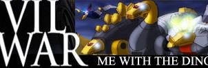 Dinobots Civil War Banner