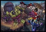 Devastator VS Superion