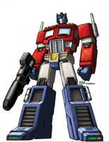 Optimus Prime by LiamShalloo