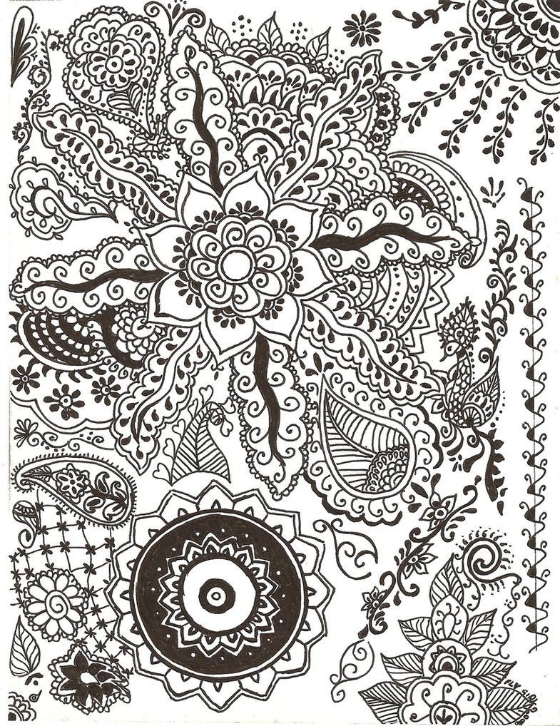 Henna Designs in Ink by FlyGirlPml on DeviantArt
