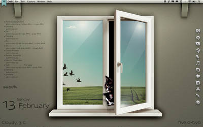 Window Cats by gillon