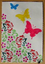 Watercolor greeting card  by BlackCatArtDA