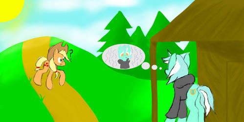Background Pony (Fanart): Foundations by HolotheCat