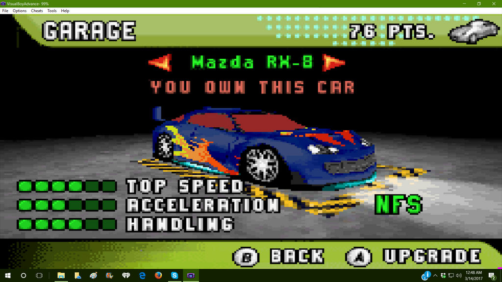 my new car on NFS underground 2 on my GBA by willowthewolf10