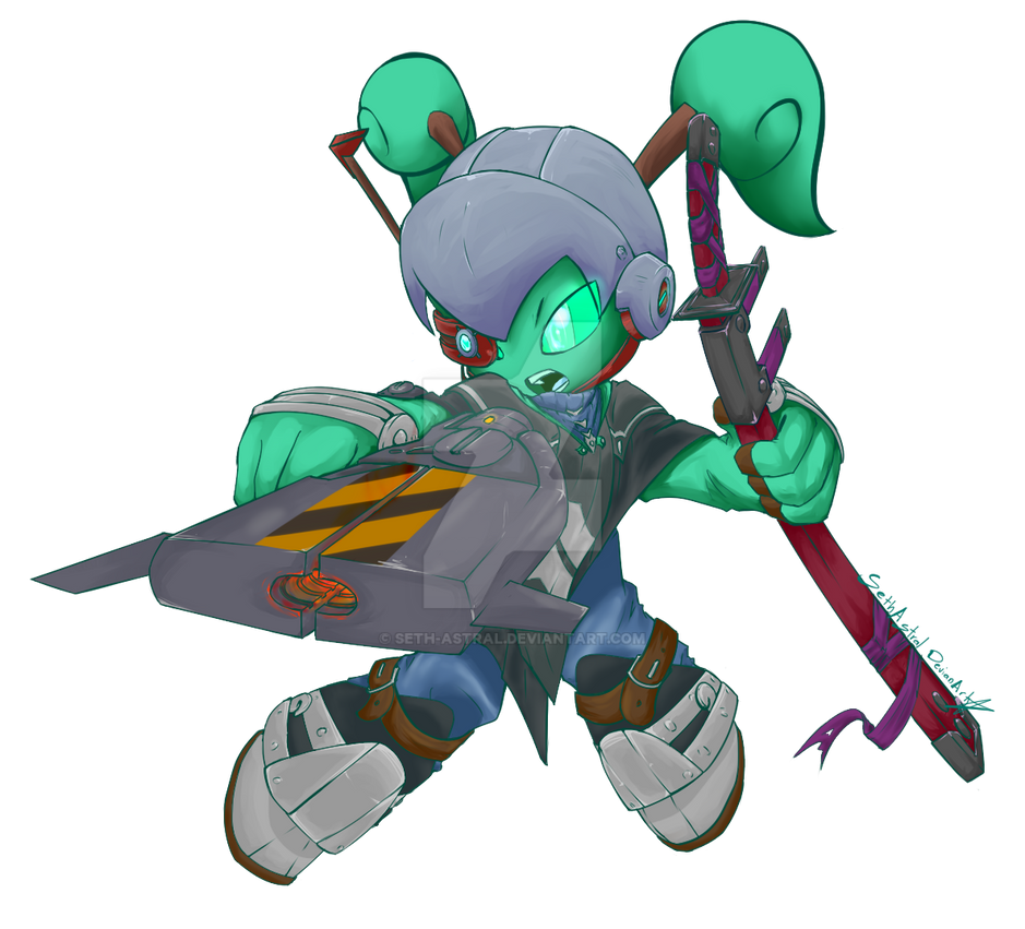 Xrounder (Xiria Rounder) -Spiral Knights- by Seth-Astral