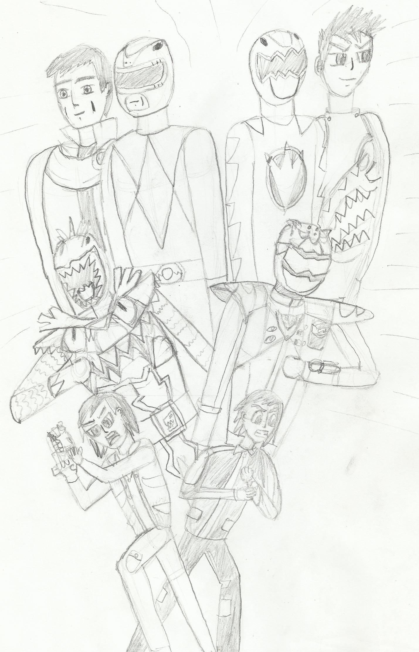 Kyoryuger vs. Go-Busters  fan art by joey2132132
