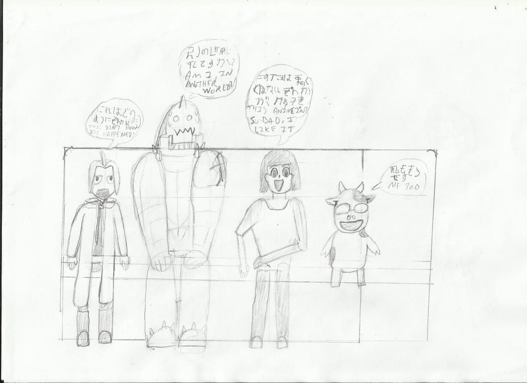 Fma fan art-elric bro and arakawa watch 2003 anime by joey2132132