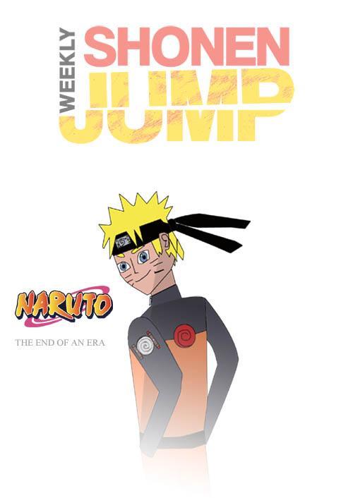 Naruto Shonen Jump Fan Art Cover (viz type) by joey2132132