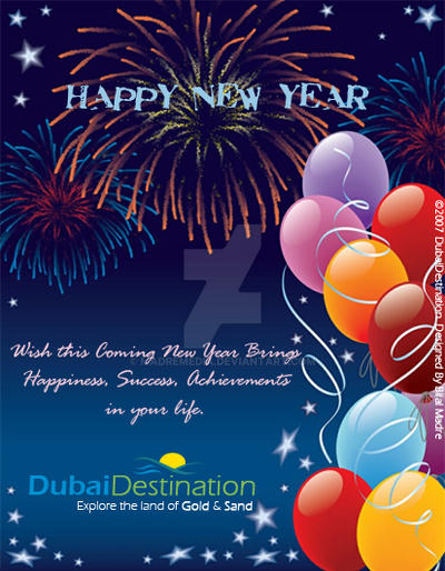 new year greeting card by madremedia