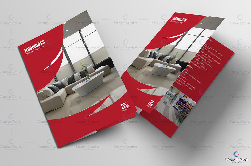Floorgloss Bifold Brochure Mockup by MadreMedia