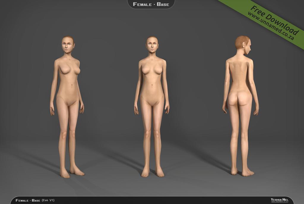 Female 3d model base V1