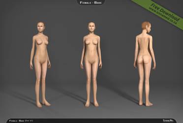 Female 3d model base V1 by YeshuaNel