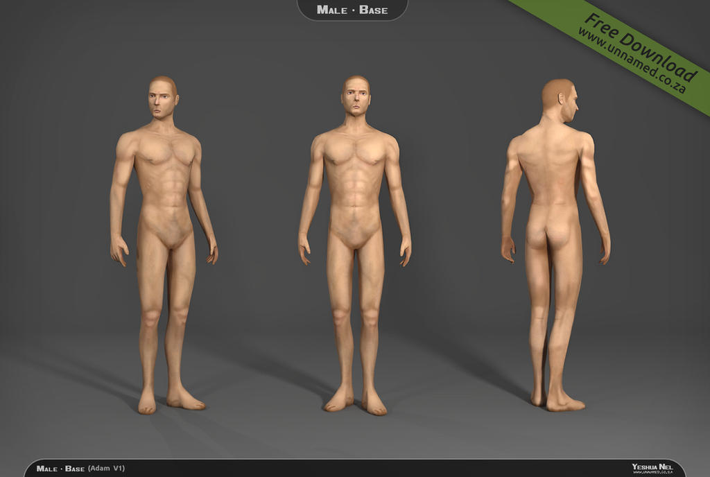 Male 3d model base V1 by YeshuaNel