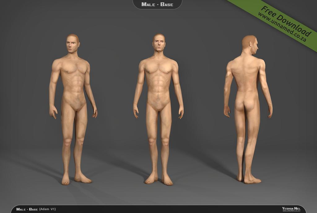 Male 3d model base V1 by YeshuaNel