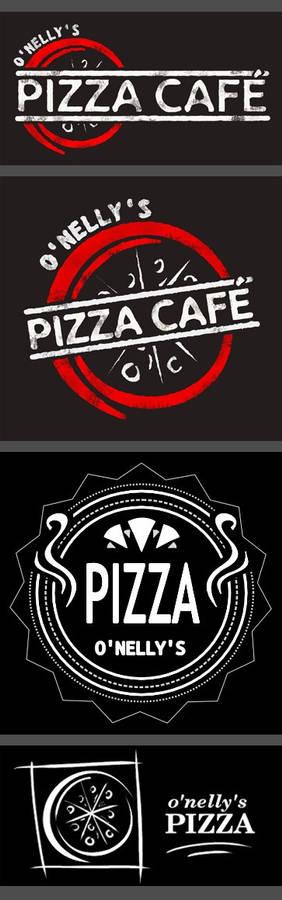 Pizza Cafe Logo designs