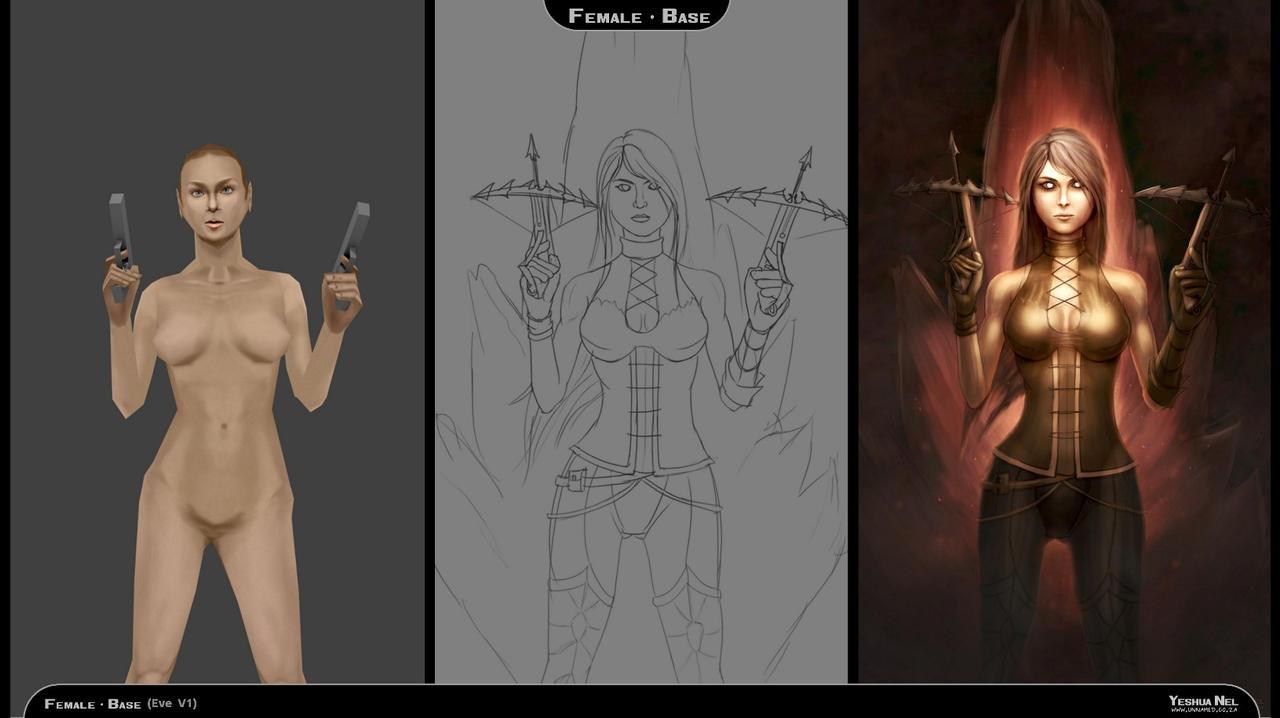 Process steps (Demon Hunter, Diablo 3) by YeshuaNel