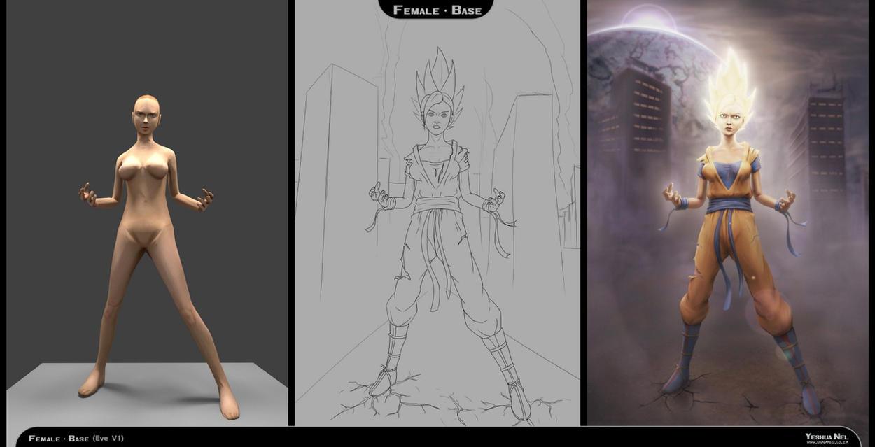 Process steps (Dragon Ball Z Goku) by YeshuaNel