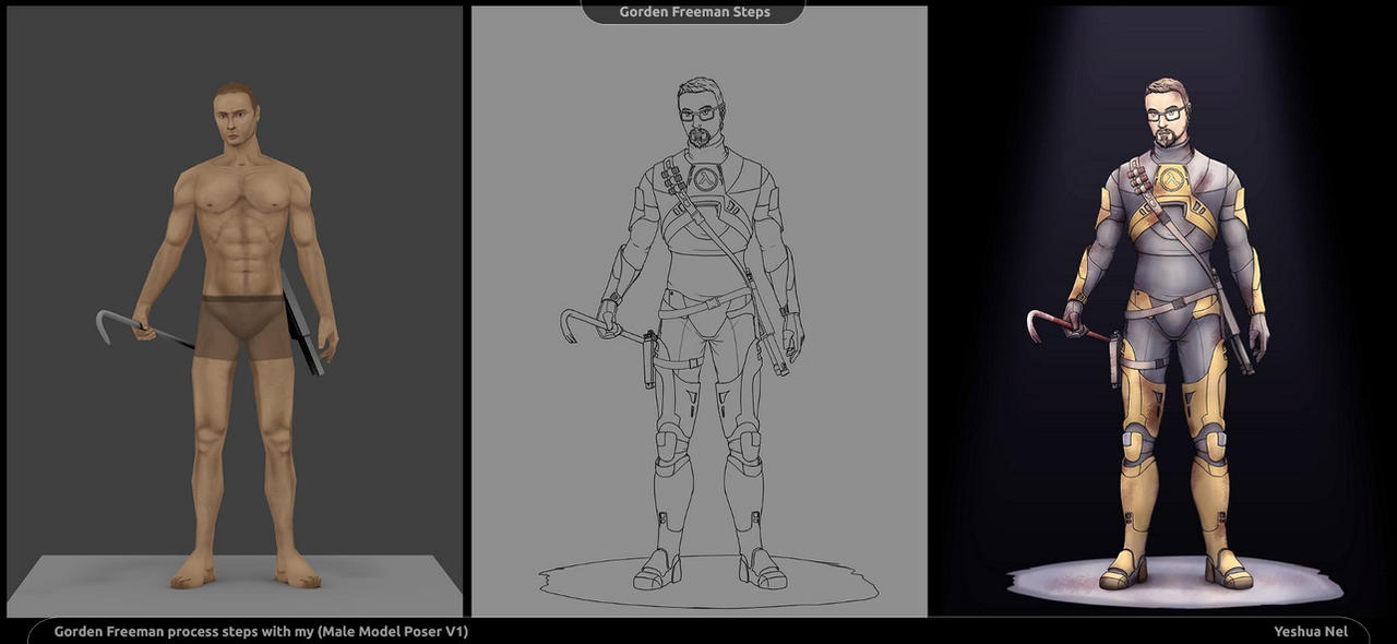 Process steps (Half Life 2, Gordon Freeman)