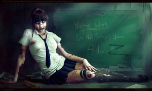 Asian Schoolgirl Zombie