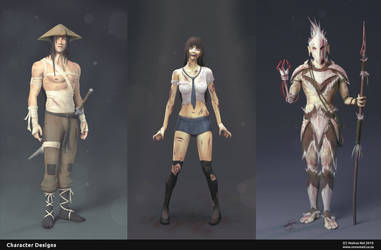 Character Designs by Yeshua Nel