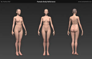 Female Body Reference Model by YeshuaNel