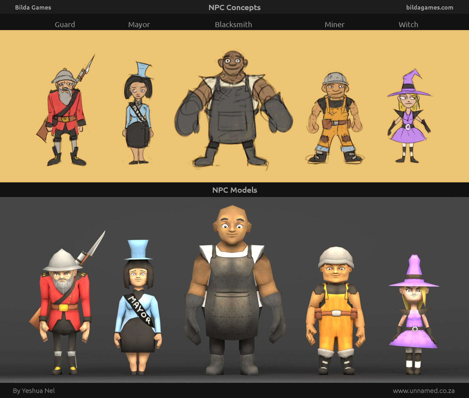 Video Game NPC Characters by YeshuaNel