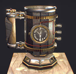 Steampunk Beer Stein by YeshuaNel