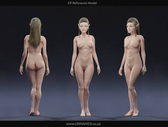 Female Elf Model by YeshuaNel