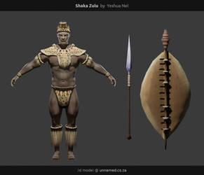 African Warrior Shaka Zulu