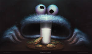Milk and Cookies - Cookie Monster