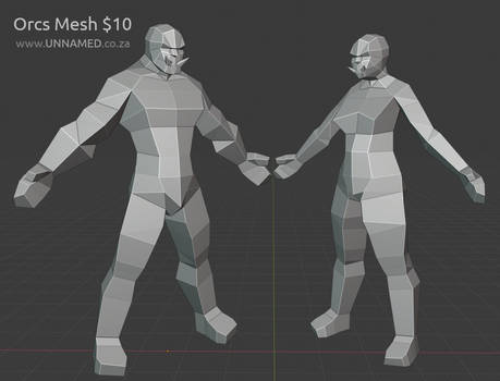 Low poly Orc models