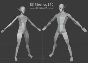 Elfs Models Low poly