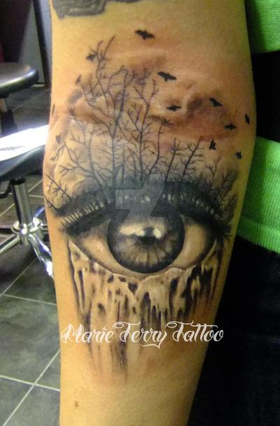 Eye Waterfall Tattoo By Londontattooartist On Deviantart