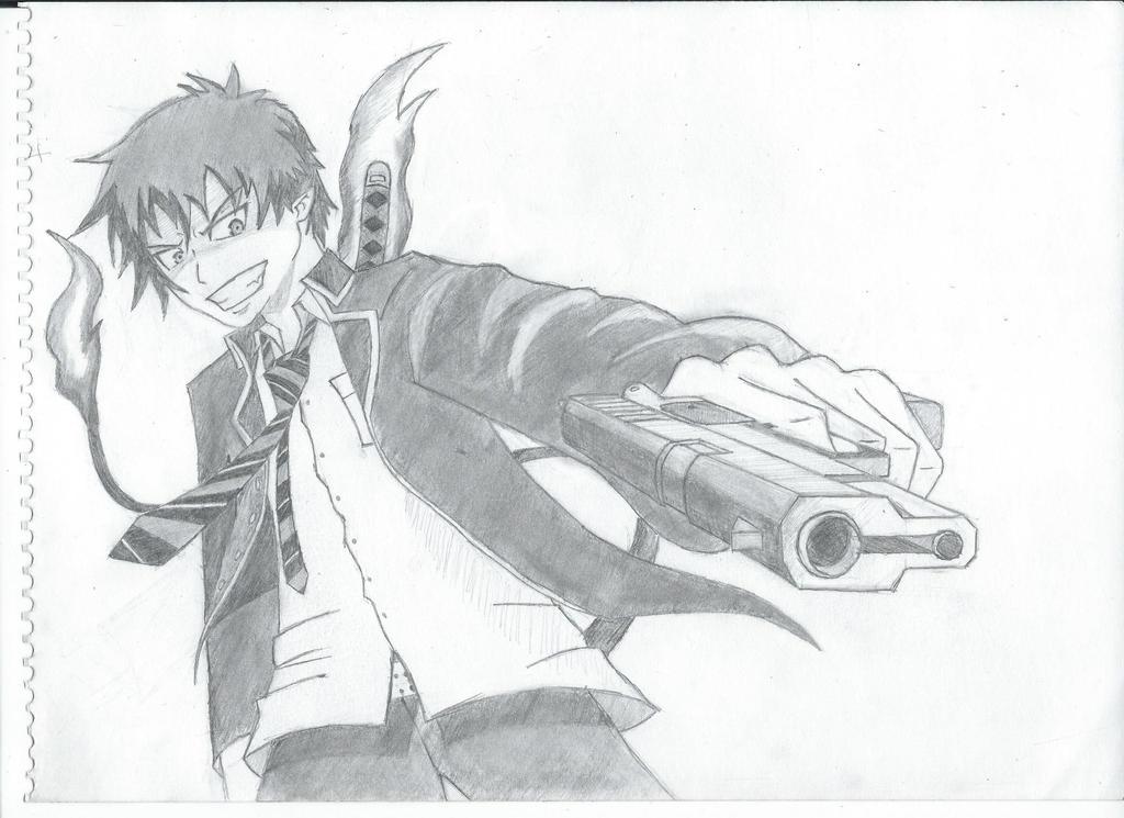 Rin Okumura by blackandawesome