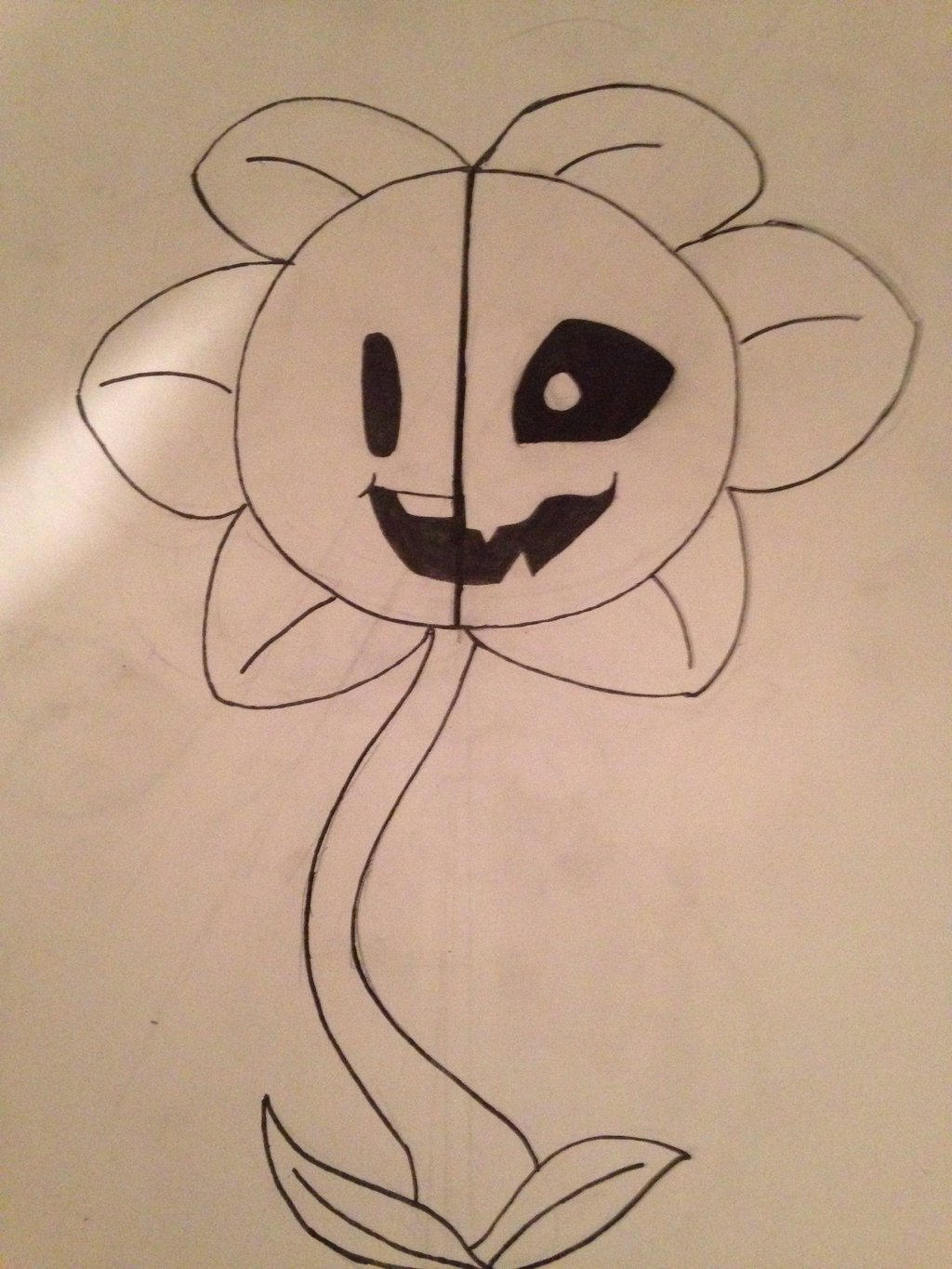 Flowey-9th inktober by daFox11