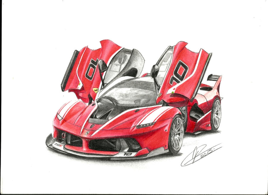 art fullxfull listing il drawing legends ferrari gto zoom media mixed car painting