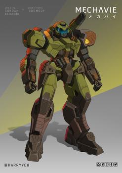 Gundam Astaroth x Doomguy